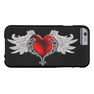 Goth Heart with Angel Wings iPhone 6 Case