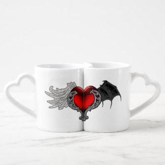 Goth Heart with Bat Wings,Angel Wings Lover's Mug