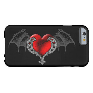Goth Heart with Bat Wings iPhone 6 Case