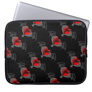 Goth Heart with Bat Wings Laptop Sleeve