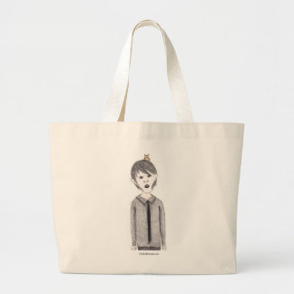 Goth Kid with Pet Owl Tote Bag