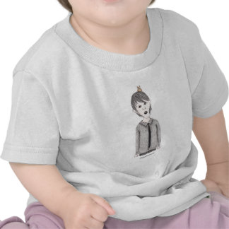 Goth Kid with Pet Owl T Shirt