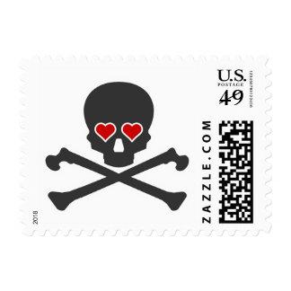 Goth Kitsch Skull & Crossbones Stamp