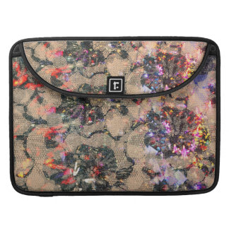 Goth Lace Roses MacBook Pro Sleeve