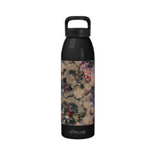 Goth Lace Roses Water Bottle