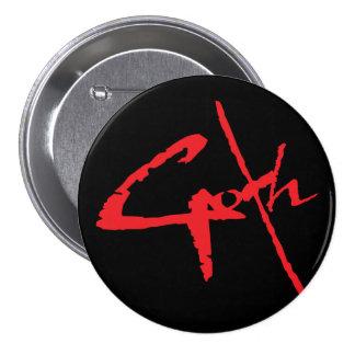 goth_logo 3 inch round button