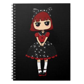 Goth Lolita Spiral Notebooks