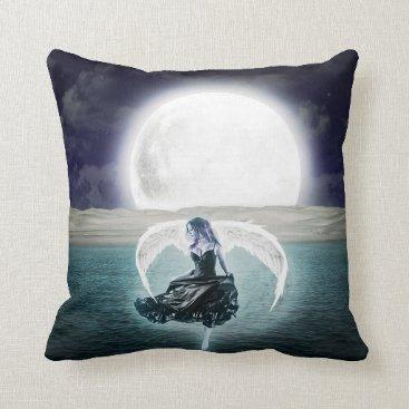 goth moon angel pillow