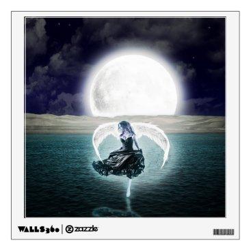 goth moon angel wall decal