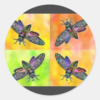 Goth Moth 4 sticker