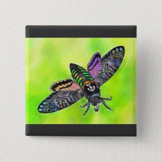 Goth Moth button