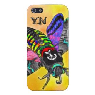 Goth Moth monogram iPhone 4 case