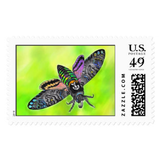 Goth Moth postage