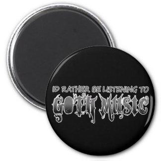 Goth music refrigerator magnet