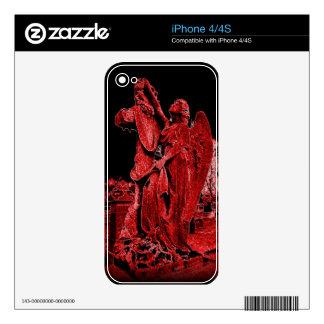 Goth Neon Angel 4 4 S Iphone Zazzle Skin iPhone 4S Skin