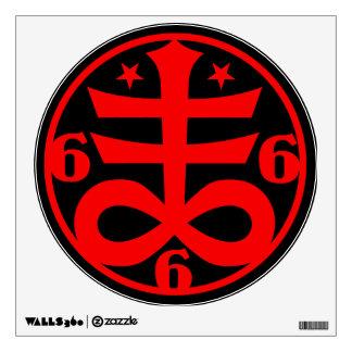 Goth Occult Satanic Cross Symbol Room Graphics