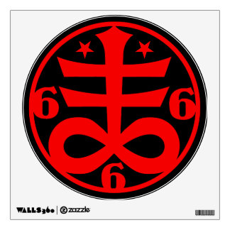 Goth Occult Satanic Cross Symbol Wall Decal