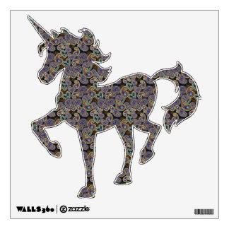 Goth Paisley Unicorn Wall Sticker