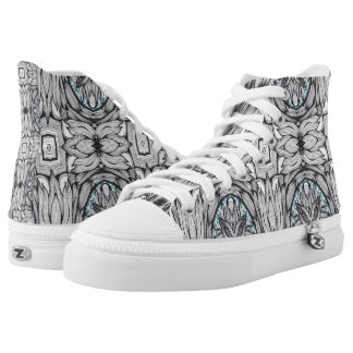 Goth Pattern Printed Shoes