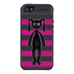 Goth Pink and Black Bunny Cover For iPhone 5