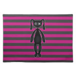 Goth Pink and Black Bunny Placemat