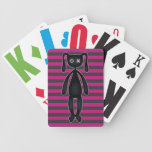 Goth Pink and Black Bunny Playing Cards
