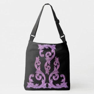 Goth Pink and Black Elegant Design Tote Bag