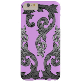 Goth Pink and Gray Elegant Design Barely There iPhone 6 Plus Case