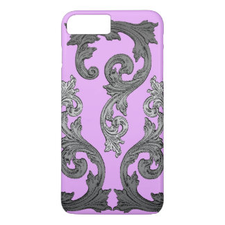 Goth Pink and Gray Elegant Design iPhone 8 Plus/7 Plus Case