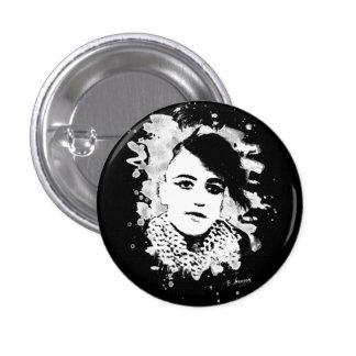 Goth punk Girl Pinback Button