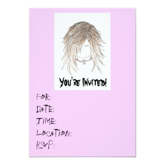Goth Punk Teen Invitations-Birthday/any Card