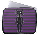 Goth Purple and Black Bunny Laptop Sleeve