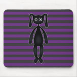 Goth Purple and Black Bunny Mousepad