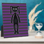 Goth Purple and Black Bunny Plaque
