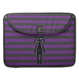 Goth Purple and Black Bunny Sleeve For MacBooks