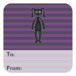 Goth Purple and Black Bunny Sticker