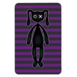 Goth Purple and Black Bunny Vinyl Magnets