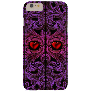 Goth Purple Ornament With Heart iPhone 6 Case
