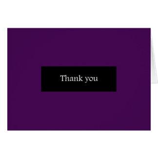 Goth purple simple thank you card