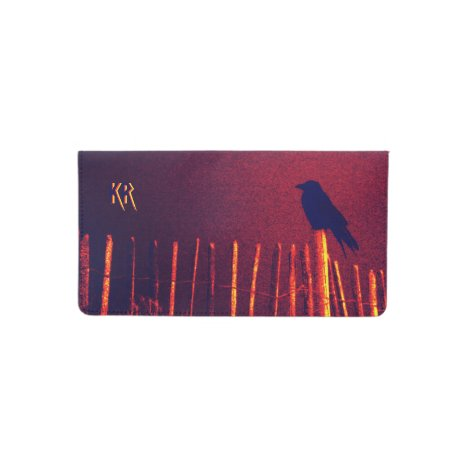 Goth Quoth The Raven Under Midnight Sky, Monogram Checkbook Cover
