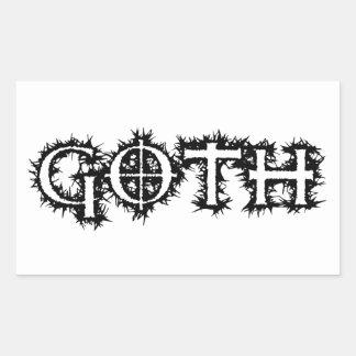Goth Rectangular Sticker