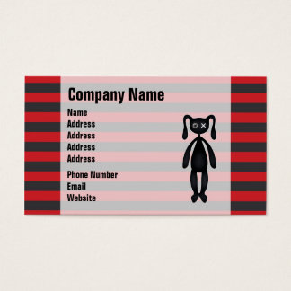 Goth Red and Black Bunny Business Card