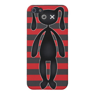 Goth Red and Black Bunny Cover For iPhone SE/5/5s