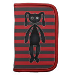 Goth Red and Black Bunny Folio Planners