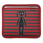 Goth Red and Black Bunny iPad Sleeve