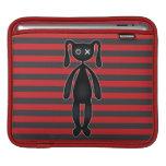 Goth Red and Black Bunny iPad Sleeve