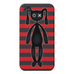 Goth Red and Black Bunny iPhone 4 Cover