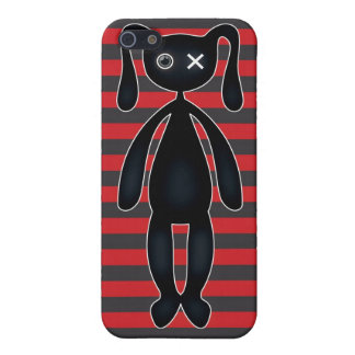 Goth Red and Black Bunny iPhone SE/5/5s Case