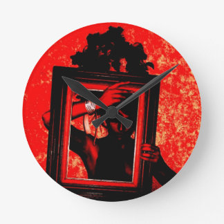 goth red blood party ball love ussr round wallclocks