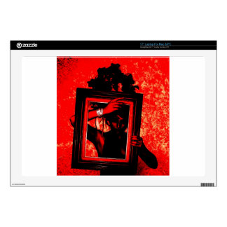 "goth red blood party ball love ussr skins for 17"" laptops"